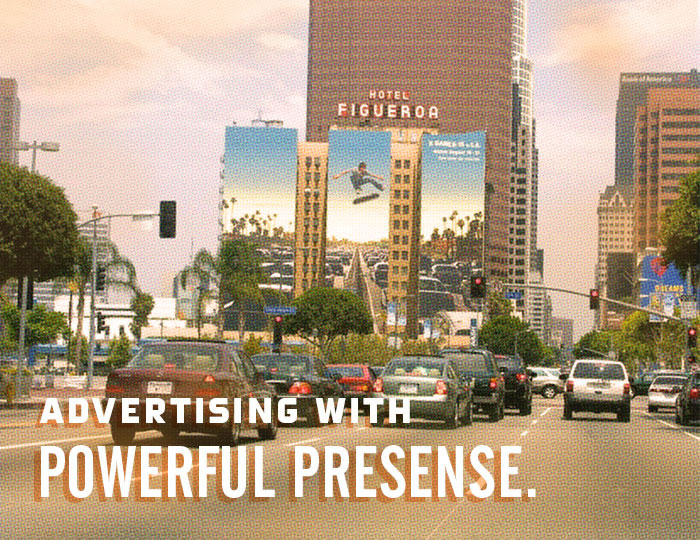 Advertising with Powerful Presense.